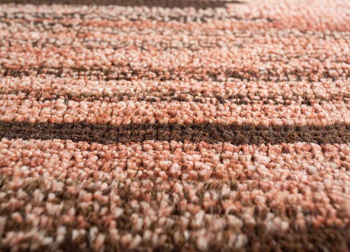 legion red and orange wool hand knotted Rug - CloseUp