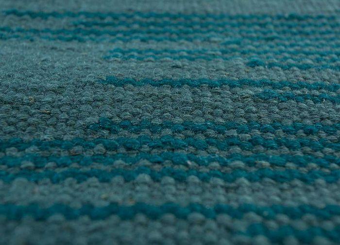 abrash green wool flat weaves Rug - CloseUp