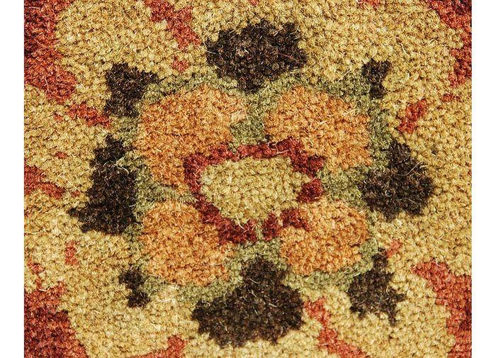kilan red and orange wool hand tufted Rug - CloseUp