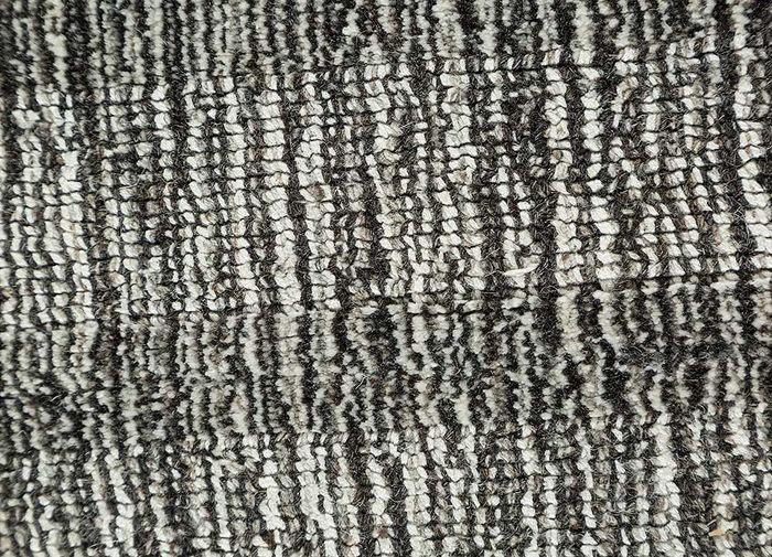 oxford blue wool and viscose hand loom Rug - CloseUp
