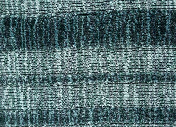 tesoro blue viscose hand loom Rug - CloseUp