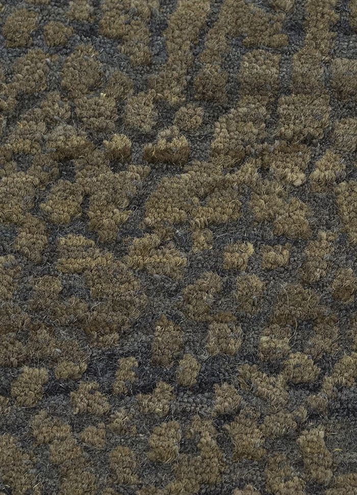 geode blue wool hand knotted Rug - CloseUp