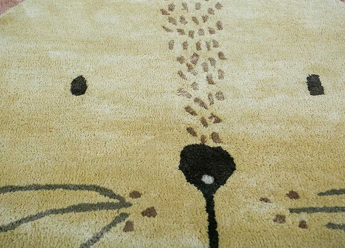 confetti ivory wool and viscose hand tufted Rug - CloseUp