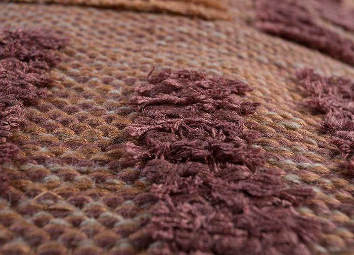 anatolia red and orange bamboo silk flat weaves Rug - CloseUp