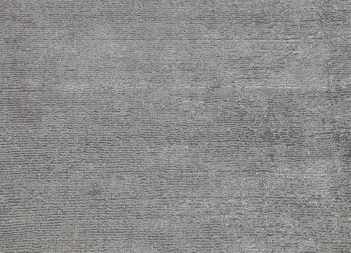 konstrukt grey and black wool and viscose hand loom Rug - CloseUp