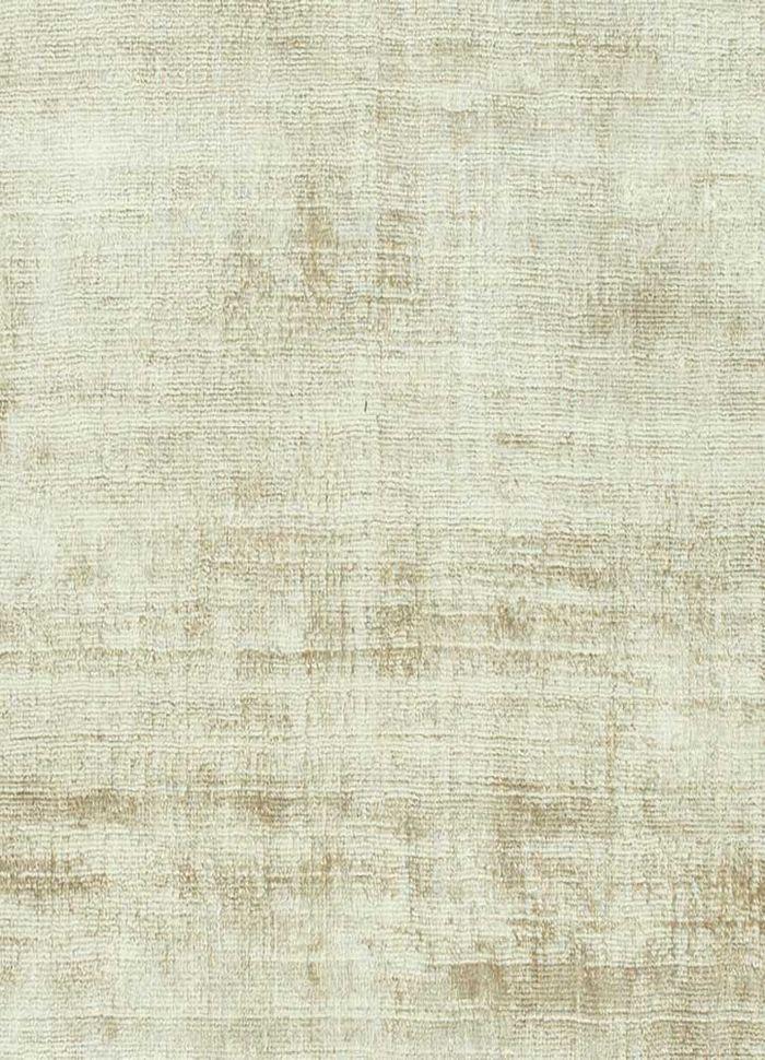 basis beige and brown viscose hand loom Rug - CloseUp