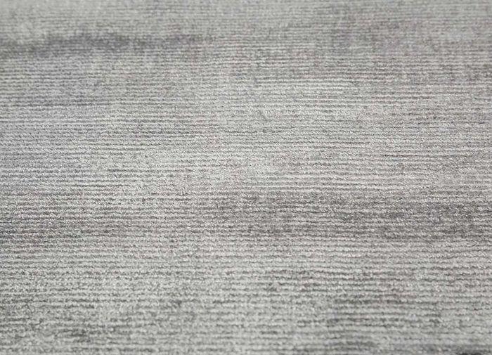 basis grey and black viscose hand loom Rug - CloseUp