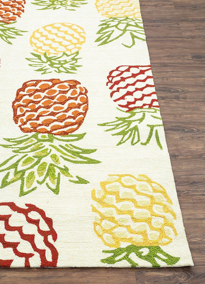 confetti ivory others hand tufted Rug - Corner