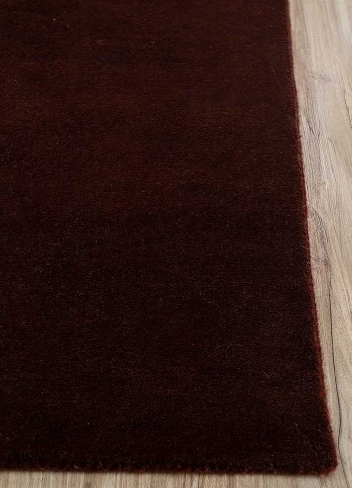 geode red and orange wool hand knotted Rug - Corner