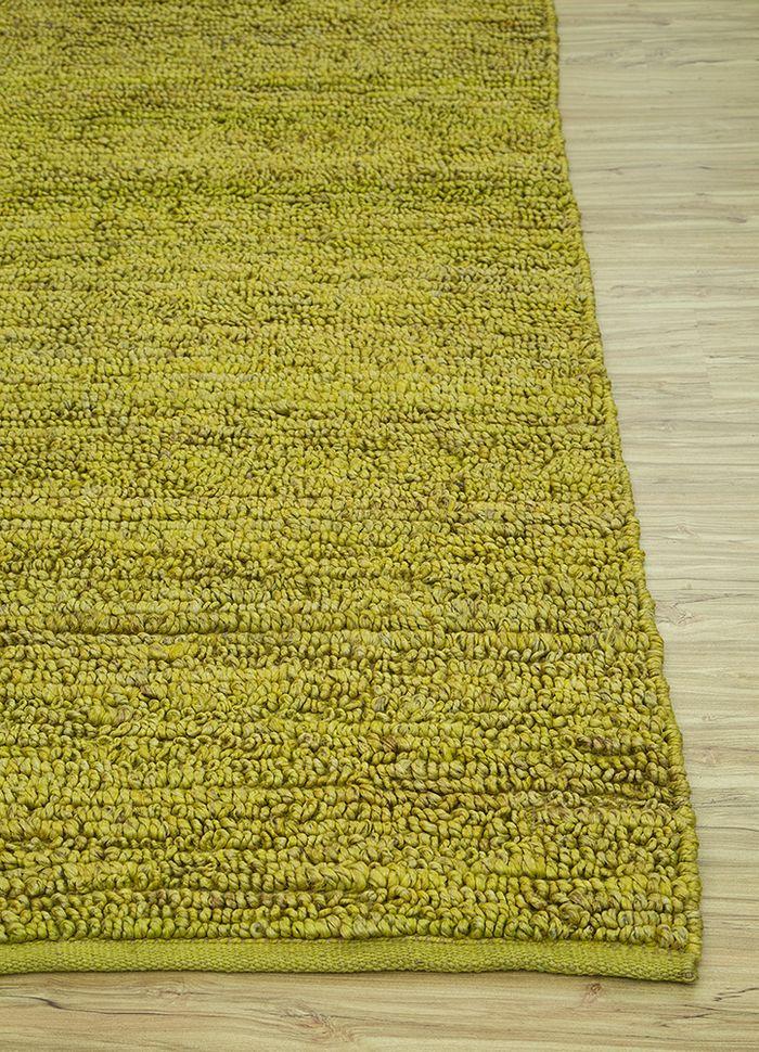 abrash green jute and hemp flat weaves Rug - Corner