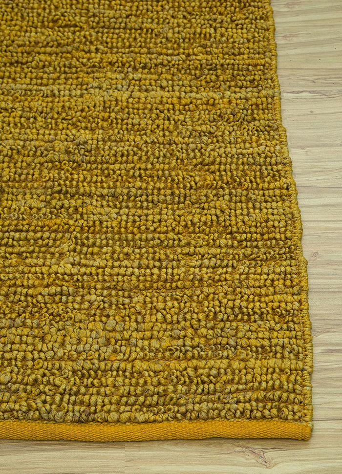 abrash gold jute and hemp flat weaves Rug - Corner