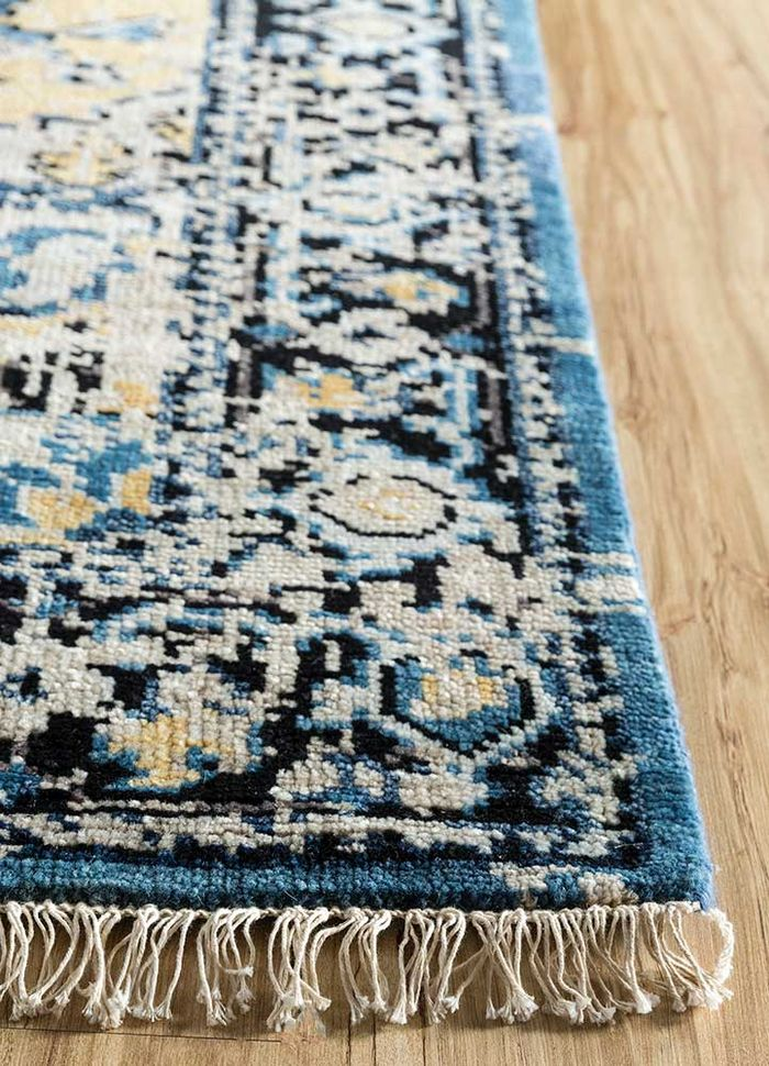 liberty gold wool hand knotted Rug - Corner