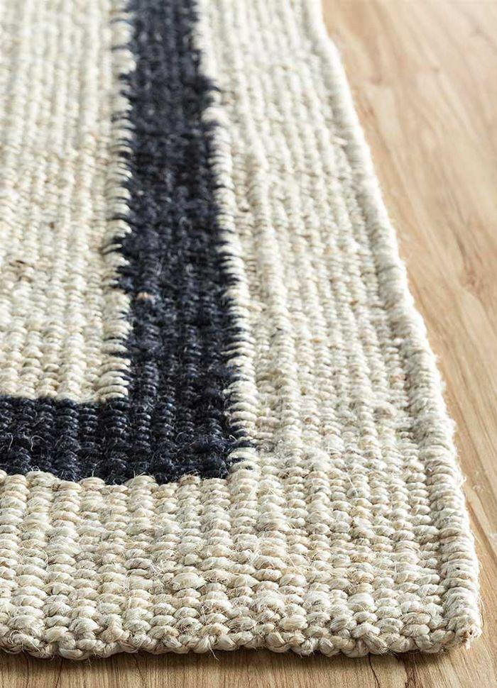anatolia ivory jute and hemp flat weaves Rug - Corner