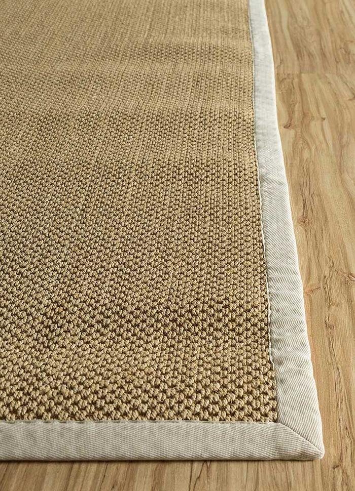 abrash beige and brown others flat weaves Rug - Corner