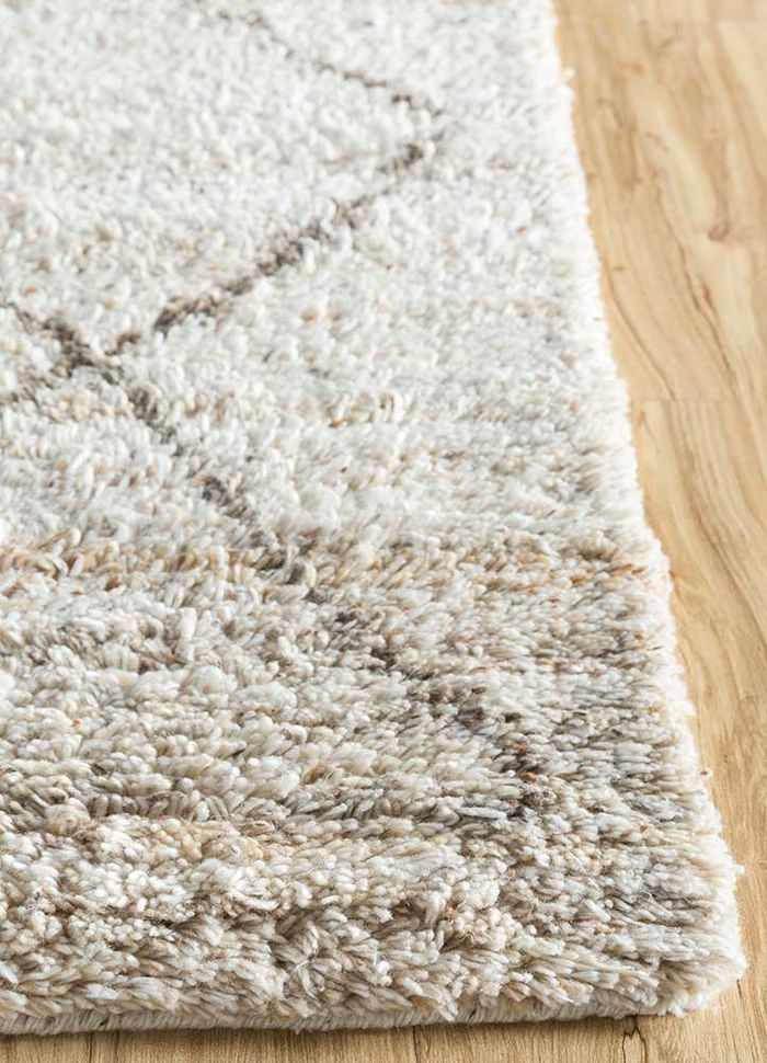 nadia ivory others hand knotted Rug - Corner
