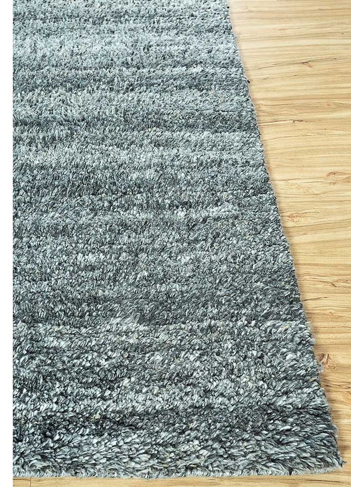 nadia blue others hand knotted Rug - Corner