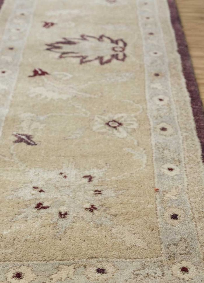 atlantis pink and purple wool hand knotted Rug - Corner