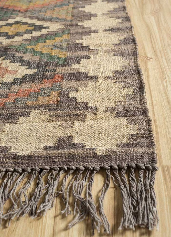 bedouin ivory jute and hemp flat weaves Rug - Corner