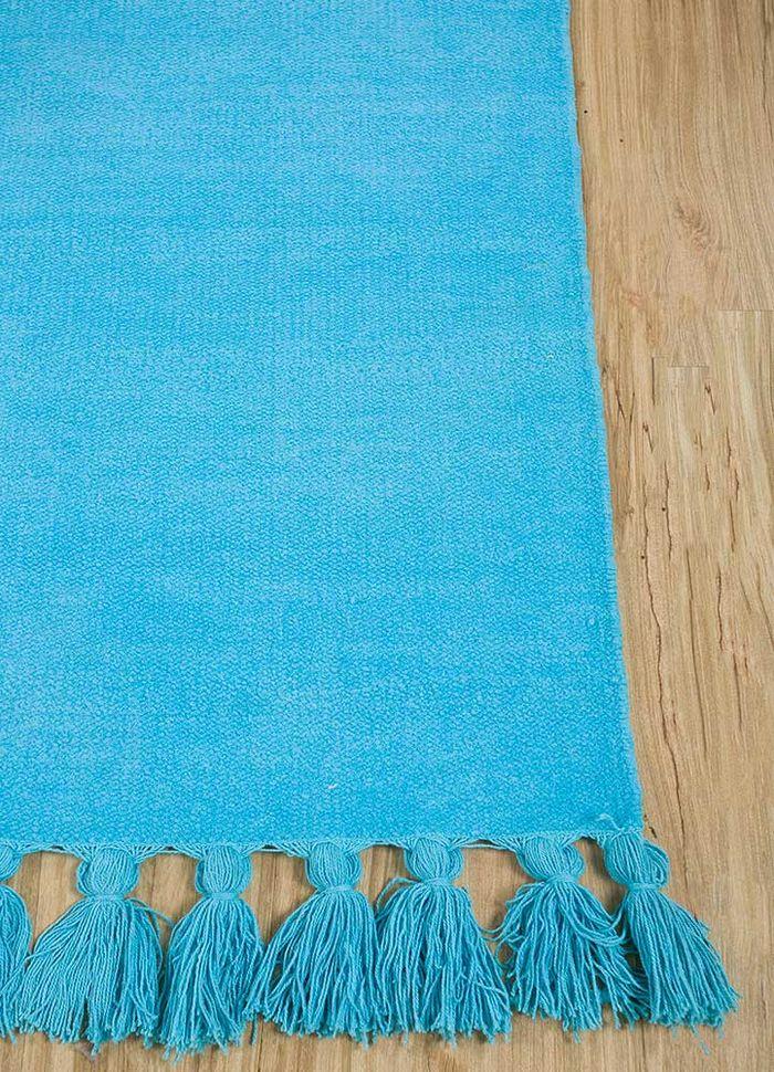 abrash blue others flat weaves Rug - Corner