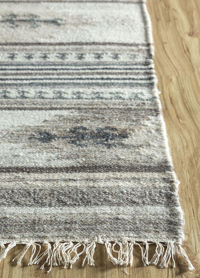 souk ivory wool and viscose flat weaves Rug - Corner