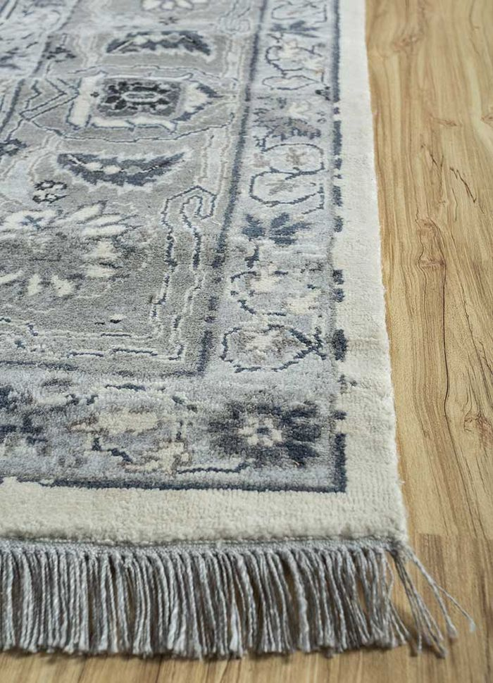 biscayne ivory others hand knotted Rug - Corner