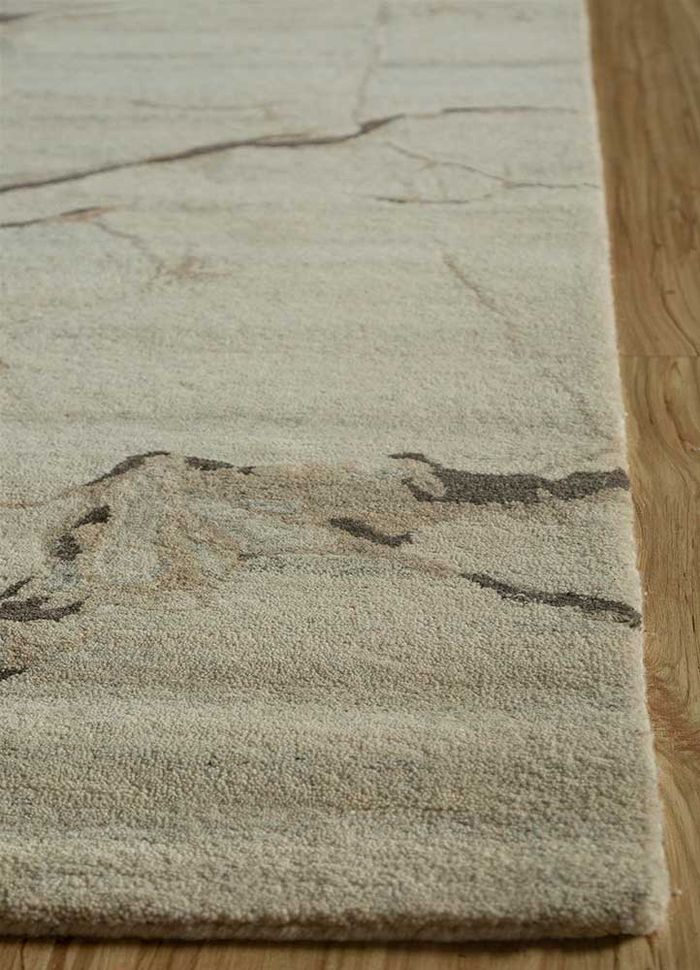 genesis ivory wool hand tufted Rug - Corner