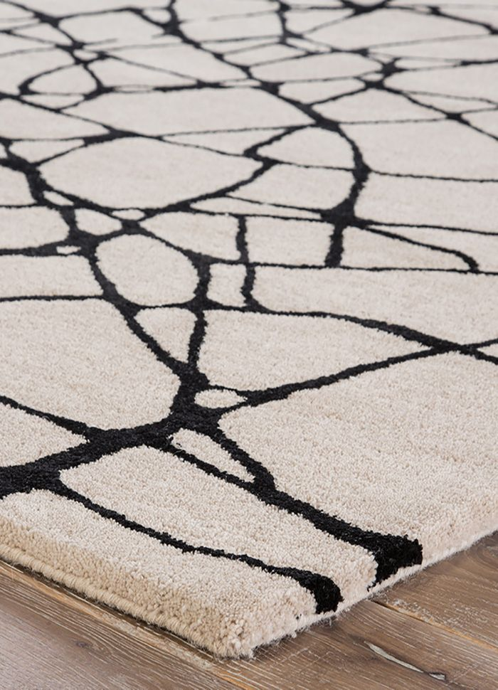 cascade ivory wool and viscose hand tufted Rug - Corner