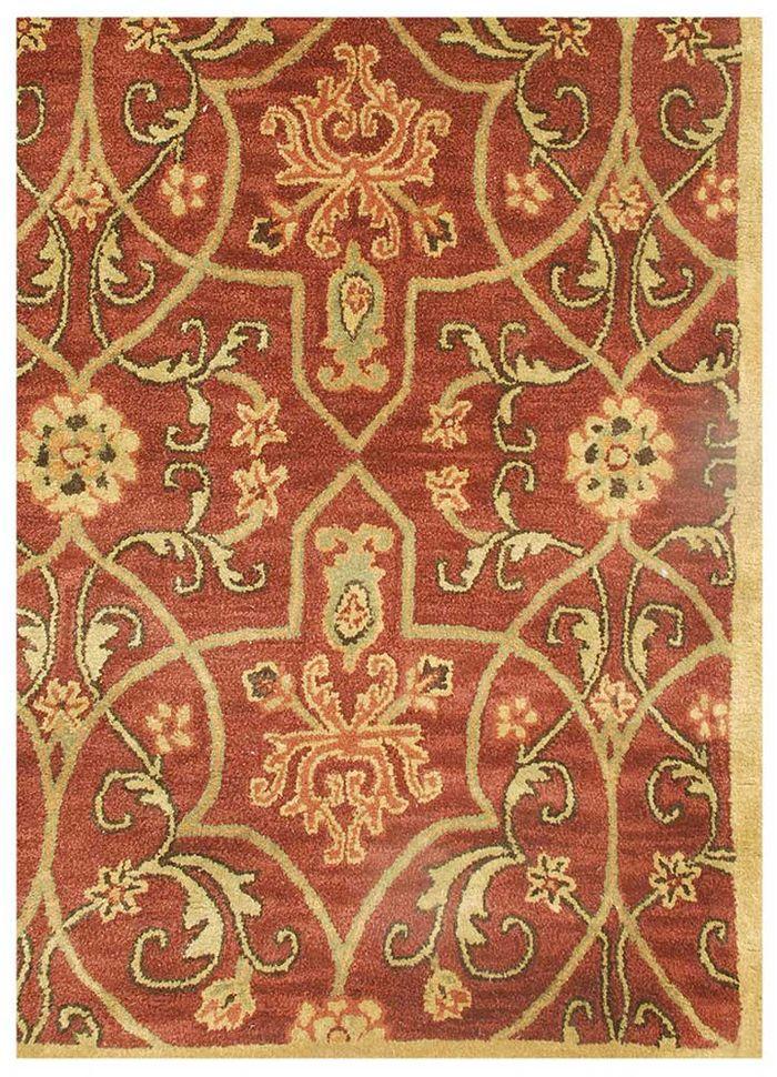 kilan red and orange wool hand tufted Rug - Corner