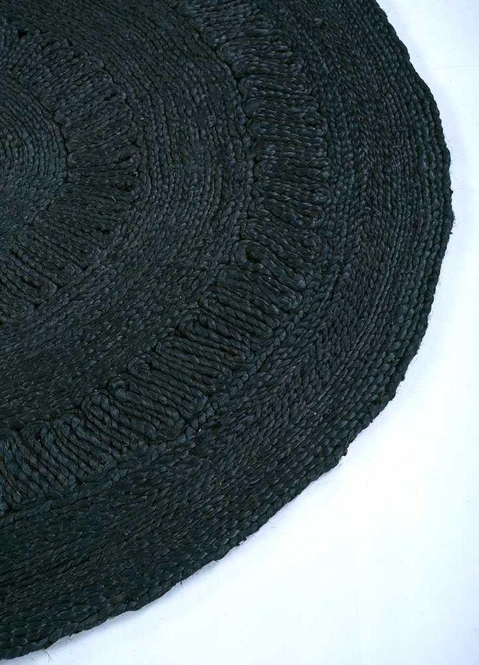 anatolia grey and black jute and hemp flat weaves Rug - Corner