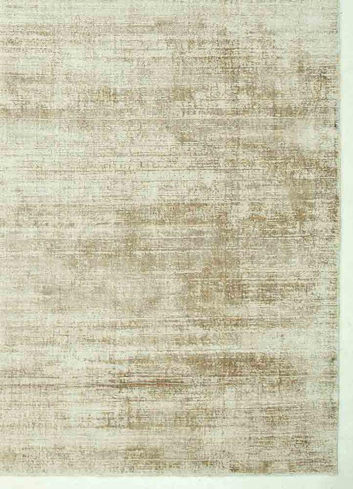 basis beige and brown viscose hand loom Rug - Corner