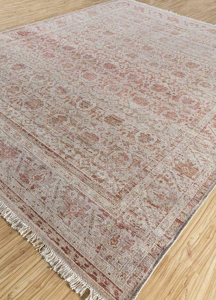 viscaya beige and brown wool hand knotted Rug - FloorShot