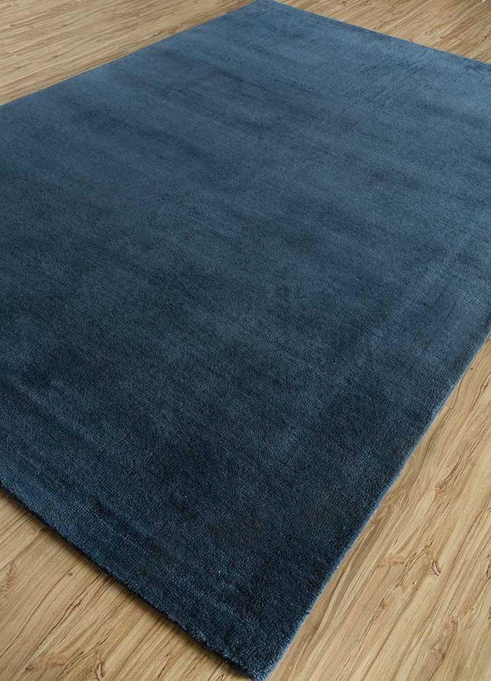 shudd blue wool hand tufted Rug - FloorShot