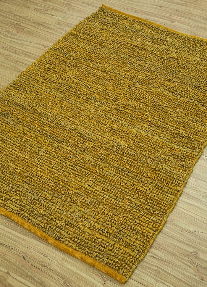 abrash gold jute and hemp flat weaves Rug - FloorShot