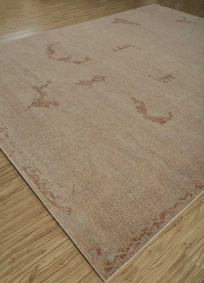 revolution pink and purple wool hand knotted Rug - FloorShot