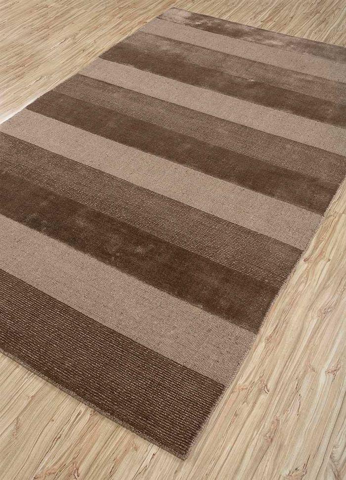 aprezo beige and brown jute and hemp hand loom Rug - FloorShot