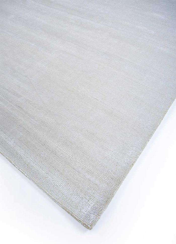 konstrukt ivory wool and viscose hand loom Rug - FloorShot