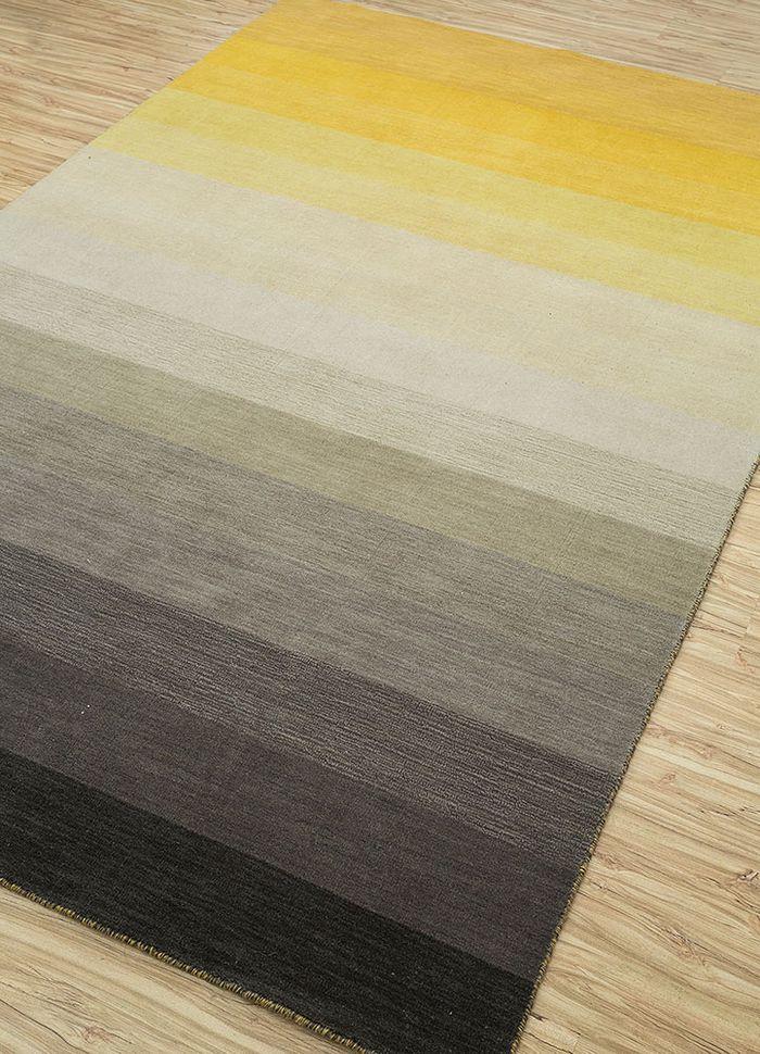 tesoro grey and black wool hand loom Rug - FloorShot