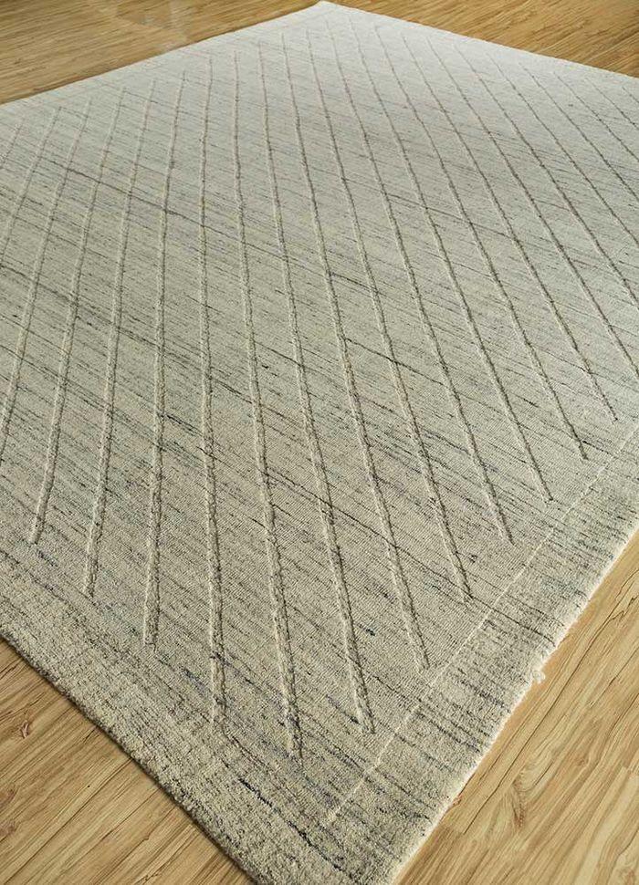 graze ivory wool hand loom Rug - FloorShot