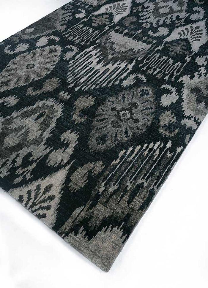 verna grey and black wool hand knotted Rug - FloorShot