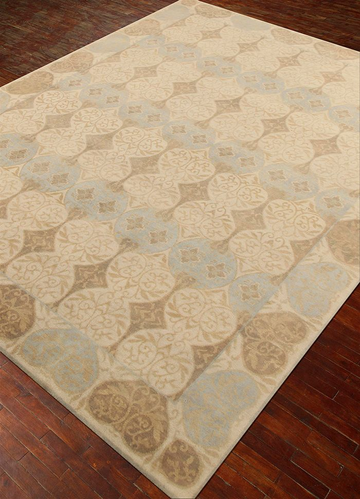 liberty ivory wool hand knotted Rug - FloorShot