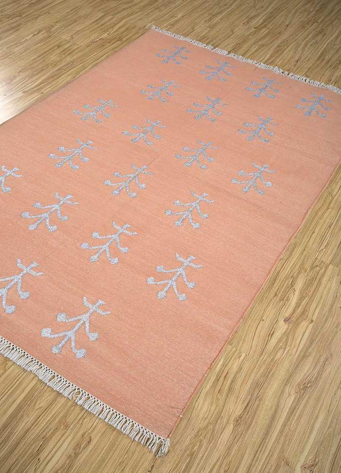 heritage red and orange cotton flat weaves Rug - FloorShot