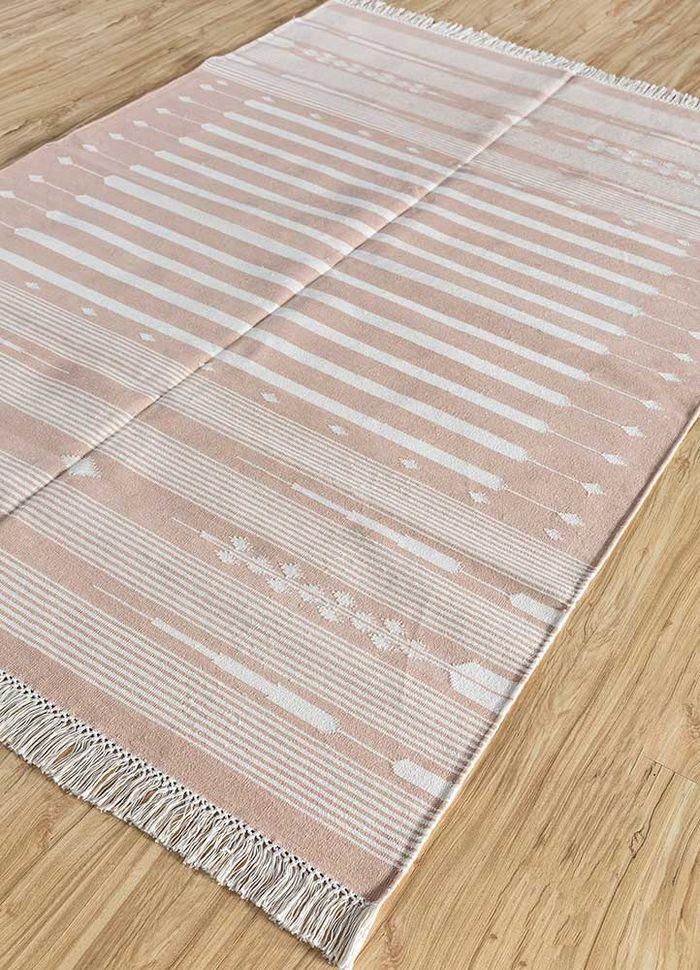 bedouin red and orange cotton flat weaves Rug - FloorShot