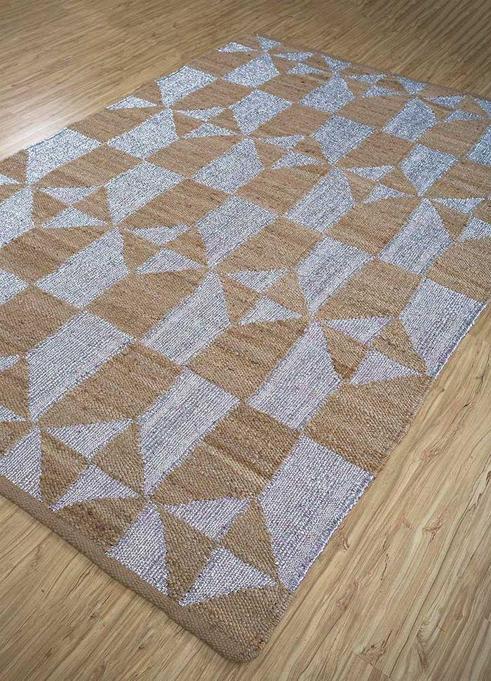 aprezo beige and brown jute and hemp flat weaves Rug - FloorShot