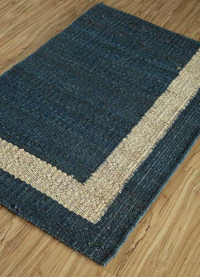 anatolia blue jute and hemp flat weaves Rug - FloorShot