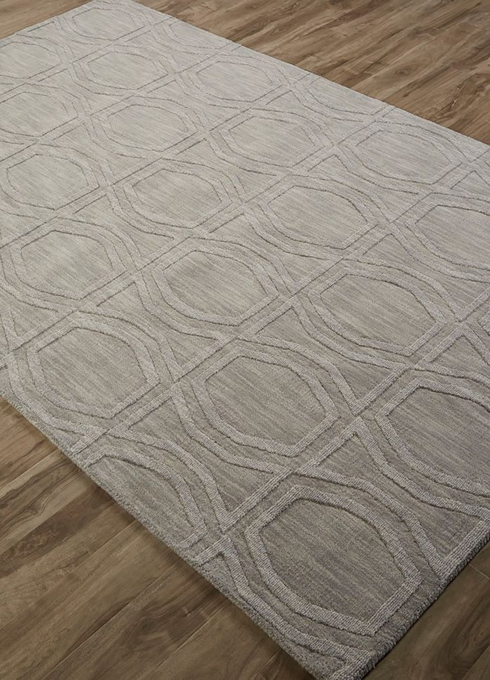 graze blue wool hand loom Rug - FloorShot