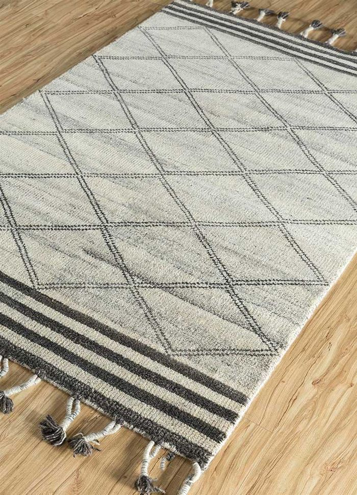cleo ivory wool hand knotted Rug - FloorShot