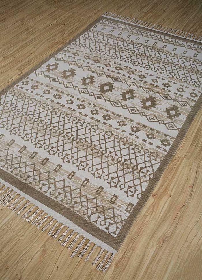 bedouin ivory cotton flat weaves Rug - FloorShot