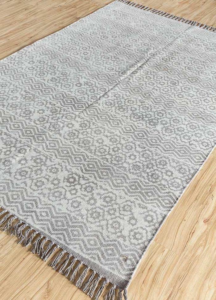 souk ivory cotton flat weaves Rug - FloorShot