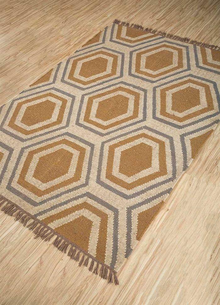 anatolia gold jute and hemp flat weaves Rug - FloorShot