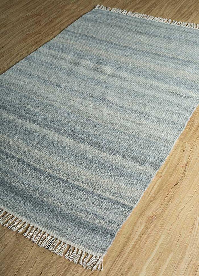aqua blue others flat weaves Rug - FloorShot